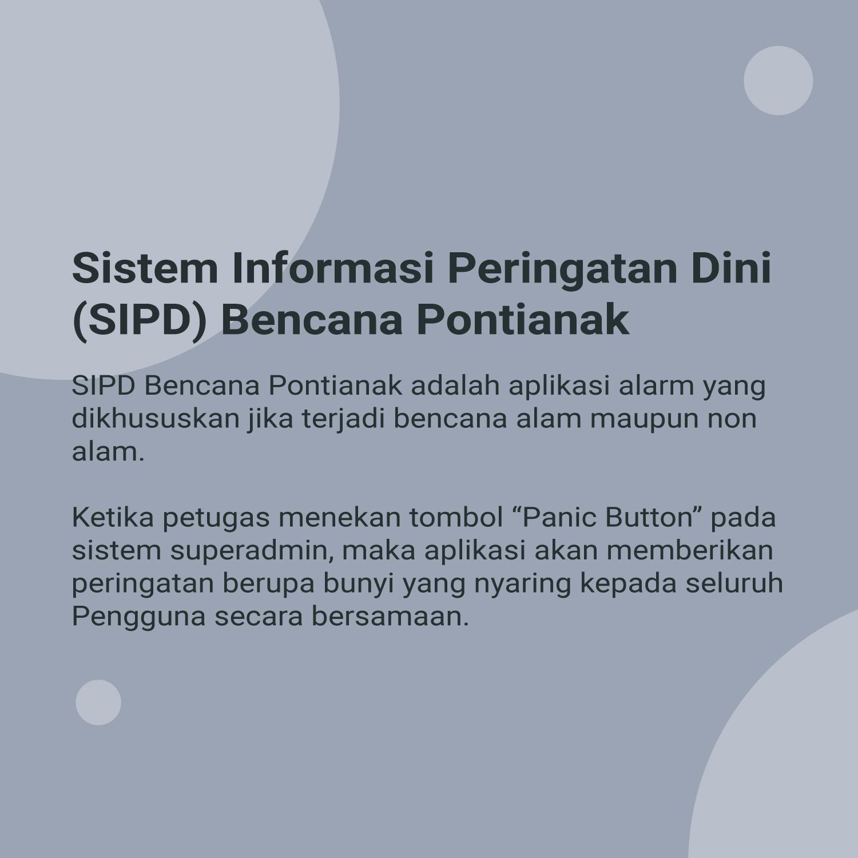 Sistem Informasi Peringatan Dini (SIPD) Bencana Pontianak